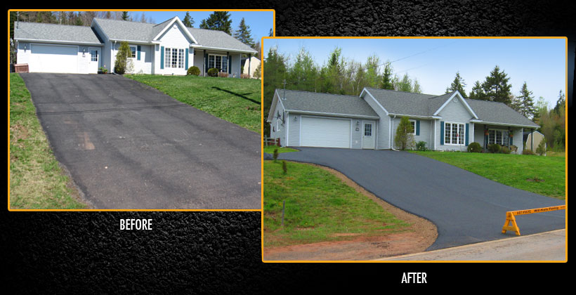 Before & After driveway pictures