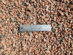 Red chip gravel - landscaping supplies, Truro, Nova Scotia